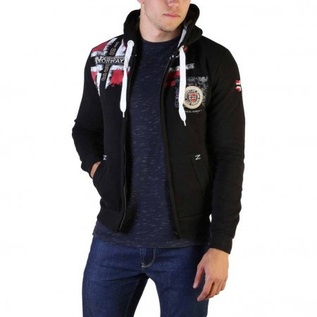 Hanorac barbati Geographical Norway, FESPOTE100_MAN, Negru