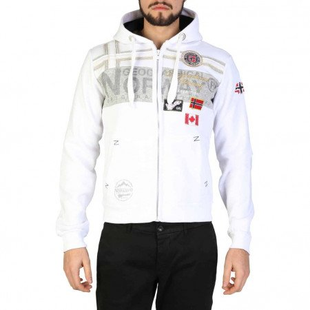 Hanorac barbati Geographical Norway, GARADOCK_MAN, Alb