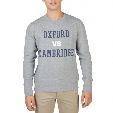 Hanorac barbati Oxford University, OXFORD-FLEECE-CREWNECK, Gri