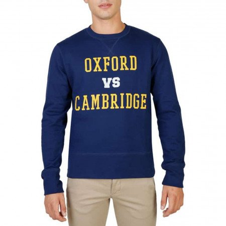 Hanorac barbati Oxford University, OXFORD-FLEECE-CREWNECK, Albastru