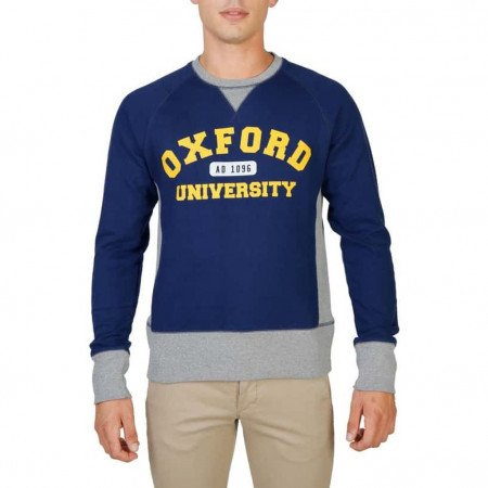 Hanorac barbati Oxford University, OXFORD-FLEECE-RAGLAN, Albastru