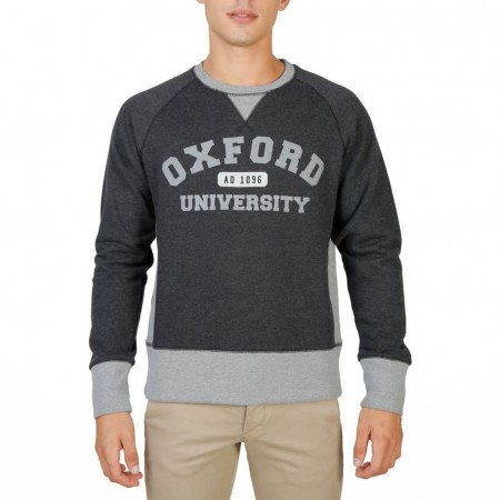 Hanorac barbati Oxford University, OXFORD-FLEECE-RAGLAN, Gri