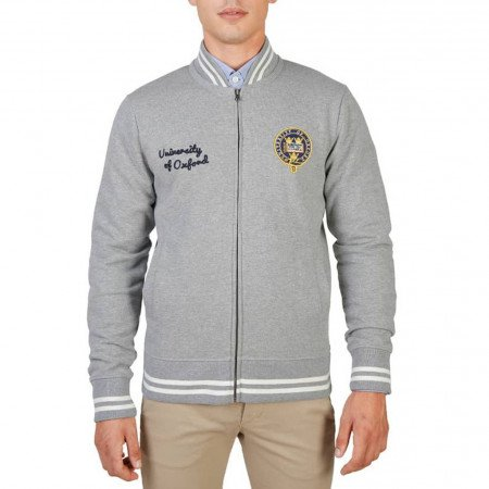 Hanorac barbati Oxford University, OXFORD-FLEECE-TEDDY, Gri
