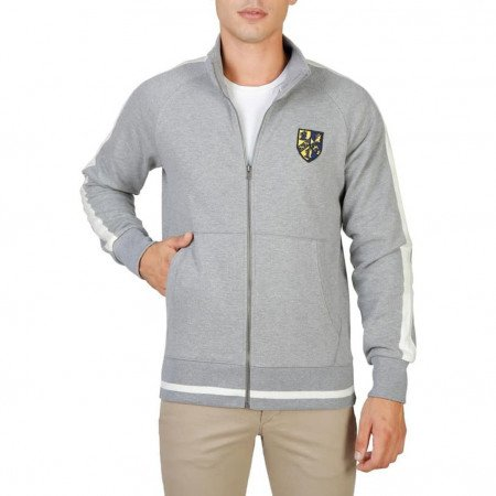 Hanorac barbati Oxford University, TRINITY-FULLZIP, Gri