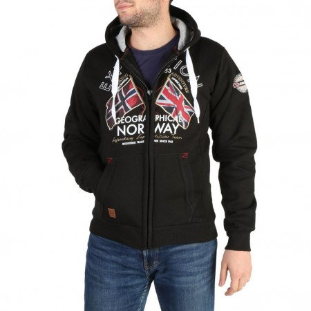 Hanorac barbati Geographical Norway, FLEPTO100_MAN, Negru