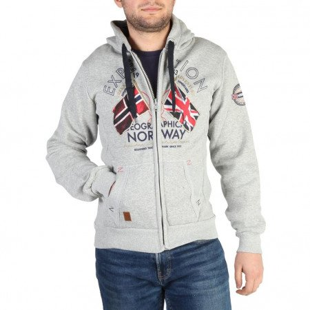 Hanorac barbati Geographical Norway, FLEPTO100_MAN, Gri