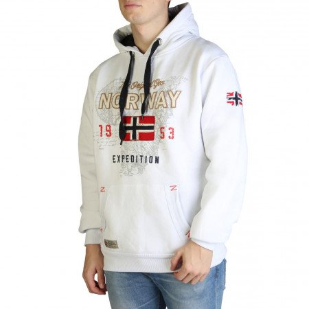 Hanorac barbati Geographical Norway, GUITRE100_MAN, Alb