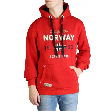 Hanorac barbati Geographical Norway, GUITRE100_MAN, Rosu