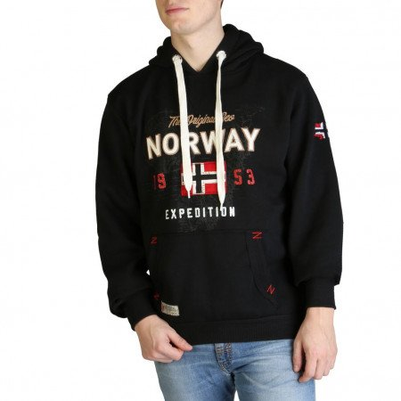 Hanorac barbati Geographical Norway, GUITRE100_MAN, Negru